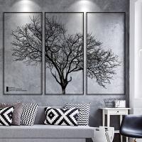 3D立体墙贴纸墙纸自粘创意个性北欧风相框树贴画客厅背景墙壁装饰
