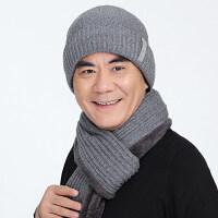 中老年人帽子男冬季保暖��帽�o耳加厚防�L套�^帽爸爸毛�帽��巾新品
