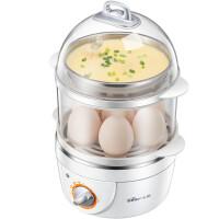 小熊Bear 双层煮蛋器 可定时蒸蛋器早餐机ZDQ-2151白色