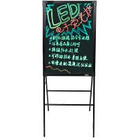 得力8733LED钢化玻璃荧光板电子 白板带支架广告牌写字板50*70cm