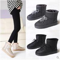 保暖雪地靴女冬季新款韩版百搭短靴学生棉鞋防水加绒短筒靴子