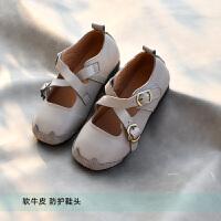 童鞋头层牛皮单鞋女童公主鞋学院鞋演出皮鞋2020秋款软底防踢