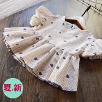 可爱~女童泡泡袖纯棉上衣2018夏季新款儿童韩版娃娃衫上衣