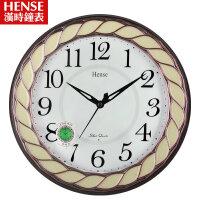 汉时欧式挂钟静音客厅办公酒店夜光时钟装饰石英钟创意现代挂表