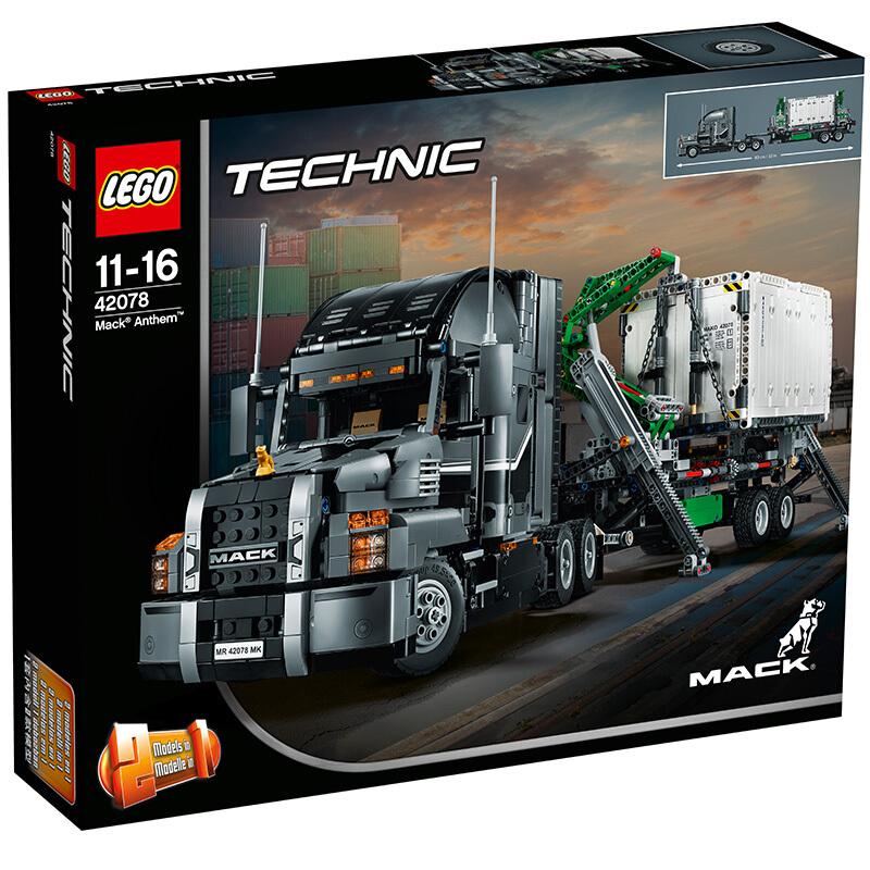 【当当自营】LEGO乐高积木机械组Technic系列42078  11-16岁马克卡车MACKAnthem 【乐高圣诞倒计时】机械组次旗舰,拼搭体验马克卡车带来的无穷满足感和创意!