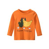 宝宝长袖T恤儿童印花上衣男春秋打底衫
