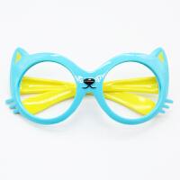 男女儿童眼镜框可爱宝宝无镜片太阳眼镜小孩圆形卡通框架婴儿配饰
