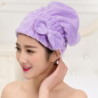 泰蜜熊情侣珊瑚绒吸水加厚柔软不掉毛不掉色干发帽女性必备浴帽颜色*