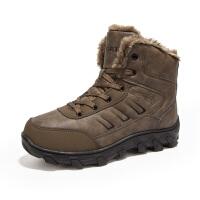 雪地靴男冬季东北户外棉靴高帮防水防滑登山保暖加绒加厚男士棉鞋新品