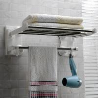 双庆第三代吸盘浴巾架不锈钢吸盘毛巾架60cm浴室吸盘毛巾架1906
