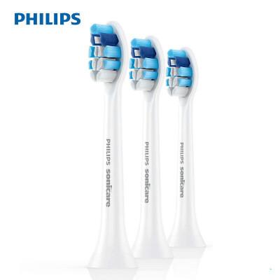 飞利浦 (PHILIPS) 电动牙刷头 牙龈护理3支装 HX9033 适配HX6803 HX6761 HX6856 HX6730 每3个月更换一次刷头!清洁效能