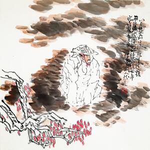 中国美术家协会常务理事 方增先《人物》LL221