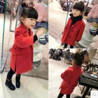 女童新年装中长款休闲呢大衣韩版儿童夹棉加厚妮子外套冬