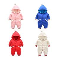 婴儿连体衣宝宝冬装婴幼儿外出抱衣新生儿衣服加厚春装哈衣0-1岁