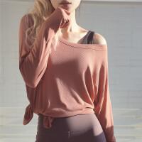 宽松显瘦运动T恤女跑步健身上衣长袖速干衣罩衫网红瑜伽服秋冬
