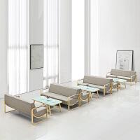 办公沙发茶几组合简约现代商务接待洽谈3人位办公室沙发皮艺新款 1+