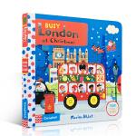顺丰发货 英文原版 Busy London at Christmas 圣诞节 繁忙的伦敦 0-3岁幼儿启蒙认知趣味玩具