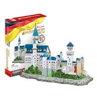 新天鹅城堡纸模型玩具3D拼图立体拼图DIY手工拼插玩具