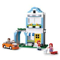 【当当自营】小鲁班模拟城市系列儿童益智拼装积木玩具 乐美&快洋的公寓M38-B0572