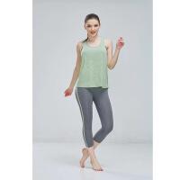 2018新款女款运动健身跑步服舒适背心+七分裤舒服透气速干健身衣裤套装
