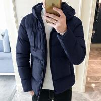 男士韩版潮流外套秋冬季潮棉袄男冬装加厚棉衣连帽