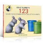 顺丰发货 英文原版 Gray Rabbit's 123 灰兔的123 平装绘本3-6岁 儿童启蒙亲子类读物 吴敏兰推荐