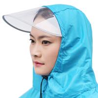 龙豹 LB668 单人透明大帽檐 加大加厚雨披男女士电动车摩托车雨衣