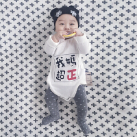 婴儿连体衣三角哈衣春装0岁3月宝宝新生儿衣服季包屁衣新年