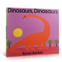 顺丰发货 英文原版张湘君推荐绘本 Dinosaurs, Dinosaurs 恐龙 Byron Barton 美国图书馆