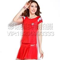红色两件套  套装新款运动  健身操服 广场舞服装  中老年春夏女