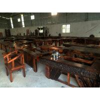 老船木茶桌椅组合实木家具中式阳台户外功夫茶几茶台泡茶桌椅组合 组装