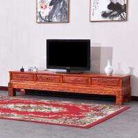 实木电视柜新中式现代简约客厅雕几电视机柜组合仿古小户型 2.4米象头电视柜 运费买家提付 整装