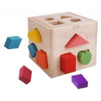 儿童玩具十三孔智力盒宝宝早教启蒙认知木质形状立体积木益智