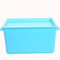 卡秀小号多用途桌面收纳箱整理箱/化妆箱/美容工具箱--蓝色