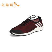 红蜻蜓男鞋春秋新款网面休闲运动鞋户外透气鞋时尚休闲单鞋-