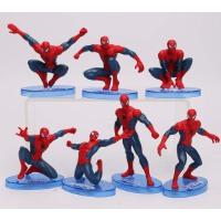 超凡蜘蛛侠手办可动玩具模型摆件人偶 公仔玩具7款 蛋糕装饰