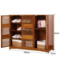 实木鞋柜楠竹鞋架简易多层鞋柜简约现代客厅玄关多功能收纳门厅柜