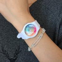 原宿潮流男表时尚个性果冻表 韩版星空防水女款手表学生表针扣式腕表