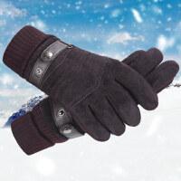 男士手套骑行摩托车皮手套户外骑车加厚手套保暖防风手套