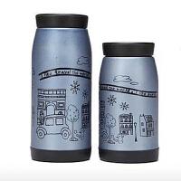 红兔子(HONGTUZI) 韩版磨砂创意250ML不锈钢可爱女士便携保温杯情侣水杯大肚杯