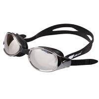防水男女通用游泳镜 电镀大框游泳眼镜 电镀平光大镜面舒适高清防雾泳镜
