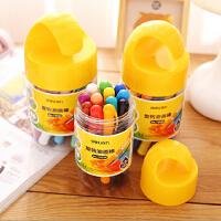 包邮得力正品72054蜡笔水洗可溶性油画棒12色18色24色旋转儿童画棒小学生用品