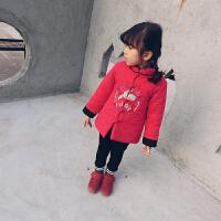女童唐装冬季宝宝新年装复古中国风童装婴幼儿加棉加厚外套