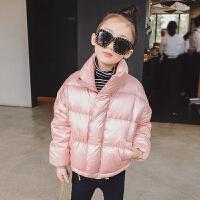 女童羽绒服轻薄 冬款新款童装儿童白鸭绒拉链面包服保暖羽绒衣服