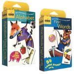 First Words/Alphabet 英文原版 54张英语单词字卡片2盒装 Golden Books 兰登出品幼儿