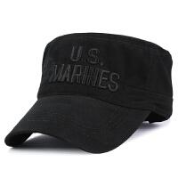 帽子男士秋冬季新款休闲平顶帽户外保暖帽全棉军帽鸭舌帽
