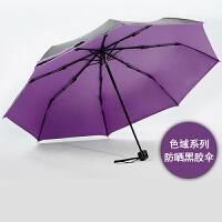 COHS 零透光黑胶晴雨伞防紫外线防晒UPF50+太阳伞色域CS601 (香芋紫)