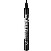 得力记号笔s550 单头油性笔大头笔 快干标记笔 耐用仓库笔 箱头笔学生用笔