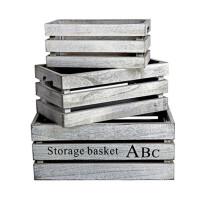 收纳篮 收纳箱木箱子储物箱组合特大号杂物柜整理箱木质储物盒