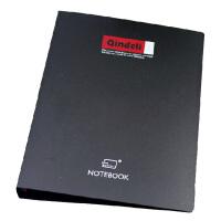 勤得利商务活页本B5 26孔 A5 活页夹笔记本 20孔 黑色活页夹 可换内页芯